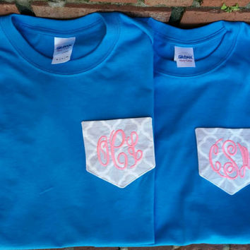Monogrammed Fabric Pocket Tee.