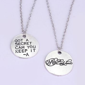 1set Fashion Movie Pretty Little Liars Got A Secret Can You Keep It Message Charm Necklace
