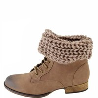 Bonfire Sweater Knit Booties