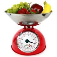 EatSmart Precision Retro Mechanical Kitchen Scale, Black