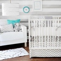 Zig Zag 3 Piece Crib Bedding Set