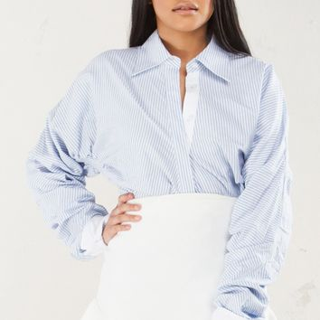 NANDA RUCHED SLEEVE LONGSLEEVE TOP - What's New