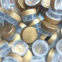 75 Tiny Gold Lid Clear JARS bottles posh Plastic Container 1/4oz Makeup USA