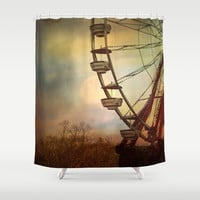 After The Thrill Is Gone Shower Curtain by Theresa Campbell D'August Art
