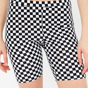 Vans & UO Checkerboard Biker Short | Urban Outfitters