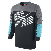 Nike Basketball Heritage Crew Men's Shirt - Carbon Heather