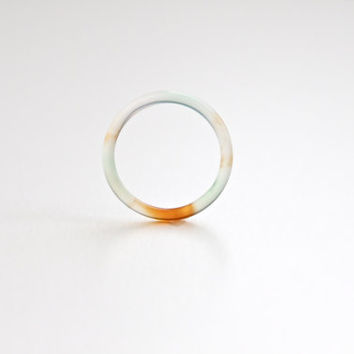 Natural Mix Color Agate Band Ring 2mm. Stackable Gemstone Ring. Real Agate Ring. Natural Healing Agate Ring.