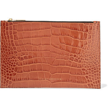 Victoria Beckham - Croc-effect leather pouch