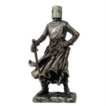Crusader Knight Statue Bronze Finishing Cold Cast Resin Statue 7 (8710)