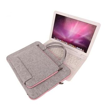 Universal 11.6 12 13.3 14 15.4 15.6 17.3 inch Laptop Bag Pouch for Macbook Air 13 Pro 15 Notebook Case Briefcase Handlebag Cover
