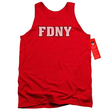FDNY Tanktop New York Fire Dept Logo Red Tank