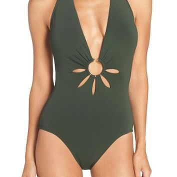Robin Piccone Halter One-Piece Swimsuit | Nordstrom