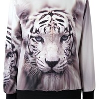 Contemplative Tiger Loose Sweatshirt - OASAP.com