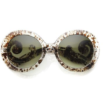 Oversize Designer Baroque Temple Womens Sunglasses 8979