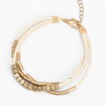 Triple Layer Gold Bead Rope Bracelet