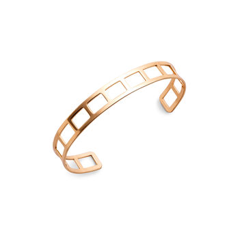 Gold Plated Geometric Hollow Out Wrap Bangle | MakeMeChic.COM