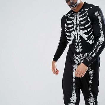 ASOS Halloween Skeleton Onesuit at asos.com