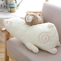 30cm Sleeping Alpaca Plush Toy