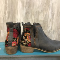 Walk This Way Embroidered Booties
