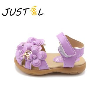 Girl's Soft Bottom Flower Sandals