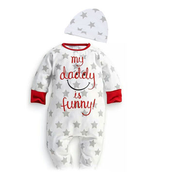 """Love You Mummy Daddy"" New Born Baby Rompers"