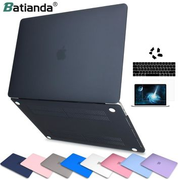 Laptop Case for apple Macbook Air Pro Retina 11 12 13 15 Matte Finish Cover for macbook New Air Pro Touch Bar ID Keyboard Cover