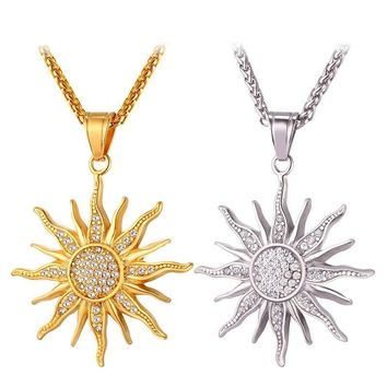 Endless Sun Charm Necklace