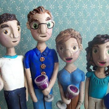 Family Portrait of FourCustomize your own family by indigotwin