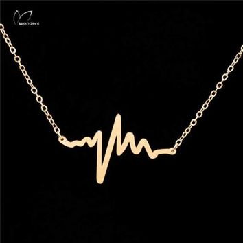 Minimal Heartbeat Necklace