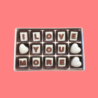 I Love You More Heart Marble Chocolate Letters Anniversary Gift for Boyfriend Men Girlfriend Women AK APO Canada International Shipping