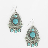Turquoise Trance Chandelier Earring - Urban Outfitters