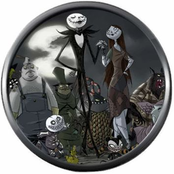 Jack And Sally With Halloween Town People Nightmare Before Christmas Jack Skellington 18MM - 20MM Charm for Snap Jewelry New Item
