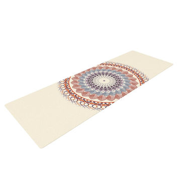 "Famenxt ""Vintage Mandala"" Yellow Multicolor Yoga Mat"