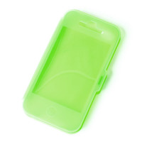 Green Clear Silicone Case for iPhone 4 and 4s