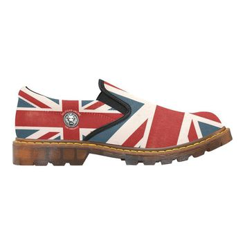 NFA The Original Union Jack Womens Combat Slip Ons