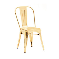 Sundsvall Stackable Cartier Gold Steel Side Chair (Set of 4)