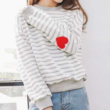 winter hoodie 2017 korean new kawaii autumn sport harajuku sweatshirt women pink lovely heart shaped embroidered hoodies women
