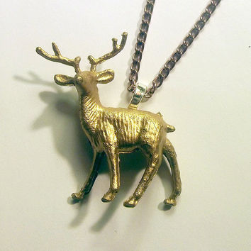 Harry's Stag Patronus Necklace by trophies on Etsy