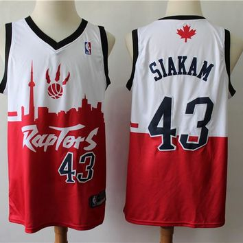 2019 Toronto Raptors 43 Pascal Siakam Red/White City Edition Jersey