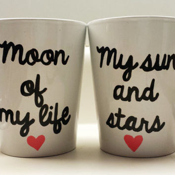 Moon of My Life My Sun and Stars Game of Thrones Mug Set of 2