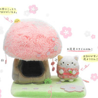 [PRE-ORDER] Neko with Sakura Tree Scene Set | Rilakkuma Shop