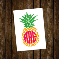 Pineapple Decal with Monogram