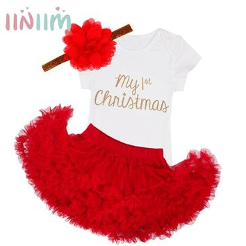 3Pcs NewBorn Baby Clothes Autumn/Winter Summer Cotton Baby Rompers Next Kids Infant Clothes Sets Christmas Baby Girls Costume