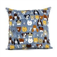 Dog Gang Throw Pillow