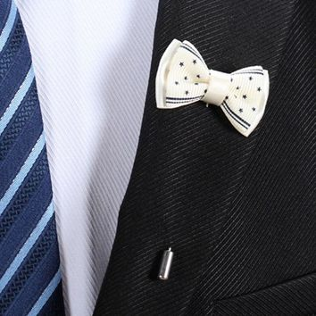 Korean Style Men'S Suit Bowknot Brooch Pin Bouquet Badge Spille Donna Wedding Clothes Party