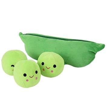 Hot Kids Baby Plush Toy For Children Cute Pea Stuffed Plant Doll Girlfriend Kawaii Gift High Quality Pea-shaped Pillow Toy