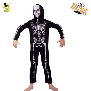 Boys Scary Skeleton clothing  Kids Gruesome Killer Role Play Sets Halloween Party Scary Skull dress Cosplay halloween party