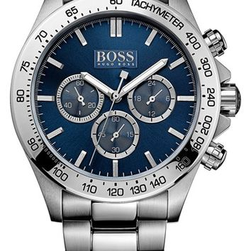 Men's BOSS HUGO BOSS Round Chronograph Bracelet Watch, 44mm