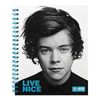 One Direction Limited Edition 1D OD Together Spiral Notebook Harry Nice Sky Blue by Office Depot