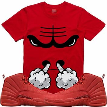 Jordan Retro 12 Gym Red Sneaker Tees Shirt - SMOKIN BULLY RK